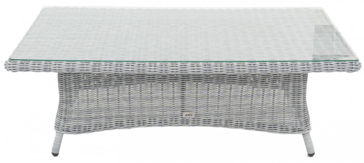 AKS Goldfield Diningtisch Polyrattan/Kunstoffgeflecht pear blue, Tisch eckig