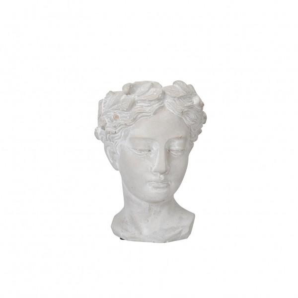 Kopf zum Bepflanzen 12,5x11x16 cm Zement grau