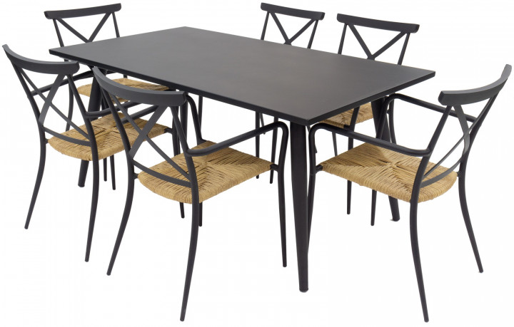 AKS Skagen Dininggruppe Aluminium schwarz