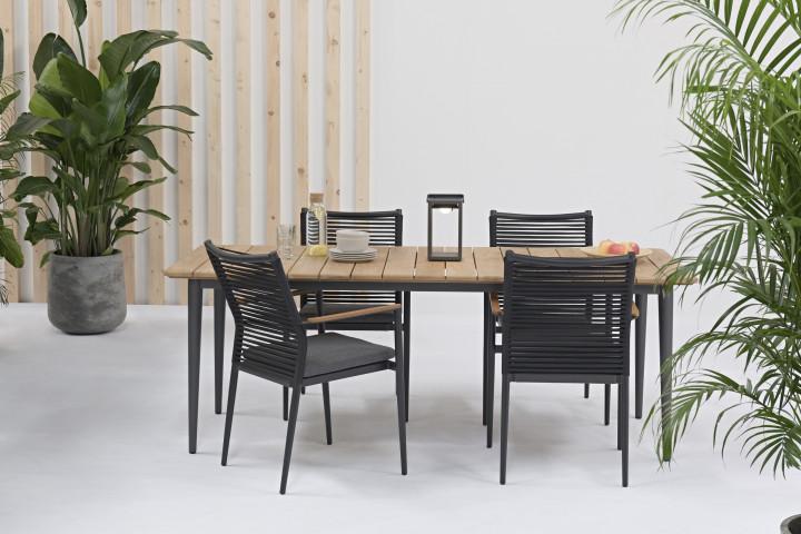 AKS Granby/Laval Dininggruppe Teakholz natur