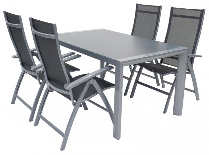 AKS Rom Dininggruppe Aluminium silber grau
