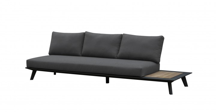 AKS Living 3er Sofa mit Teak