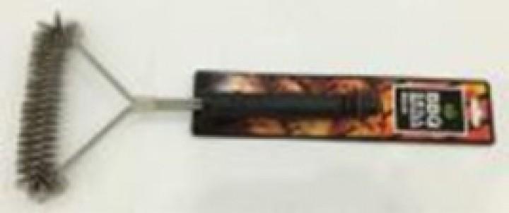 AKS BBQ Dreiseitige Grillbürste 30 cm