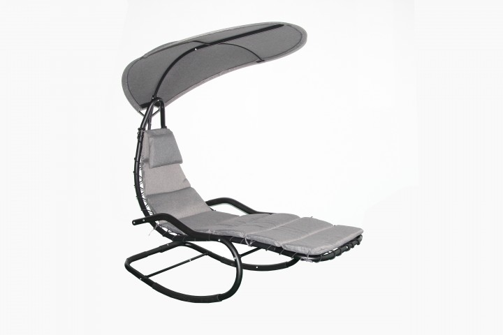 AKS Manoa Loungestuhl Stahl schwarz